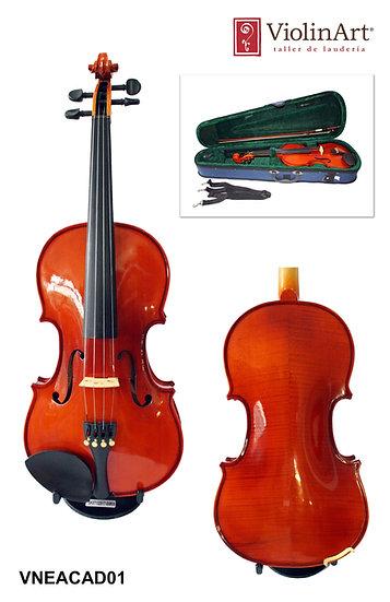 Violín ViolinArt®, con estuche, arco y brea, VNEACAD01