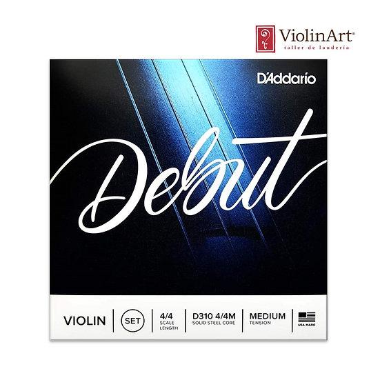 Juego de cuerdas vn D'Addario Debut, D310