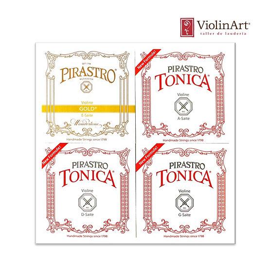 Juego de cuerdas vn Pirastro Tonica E Gold, 412027