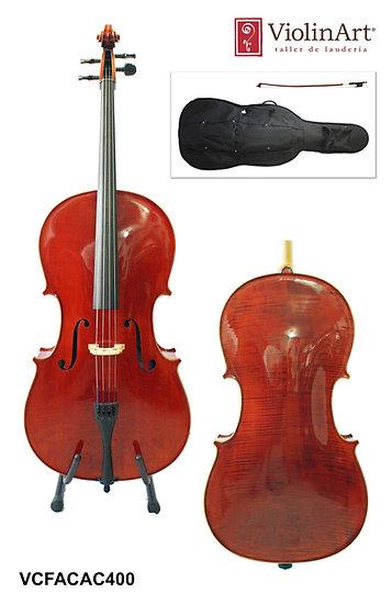 Violonchelo ViolinArt®, con arco, funda y brea, CAC400