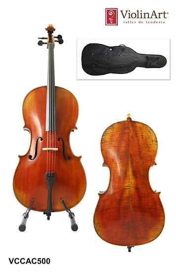 Violonchelo ViolinArt®, con arco, funda y brea, CAC500
