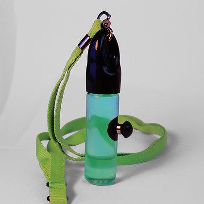 Green Ferrofluid Lanyard Display