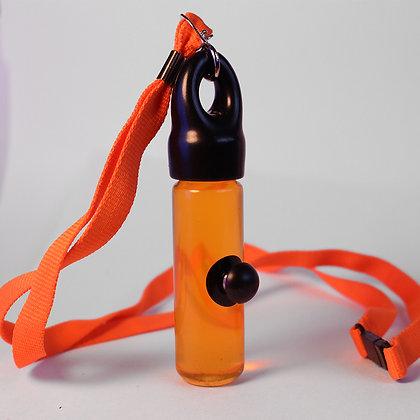 Orange Ferrofluid Lanyard Display