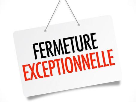 Fermeture temporaire COVID 19