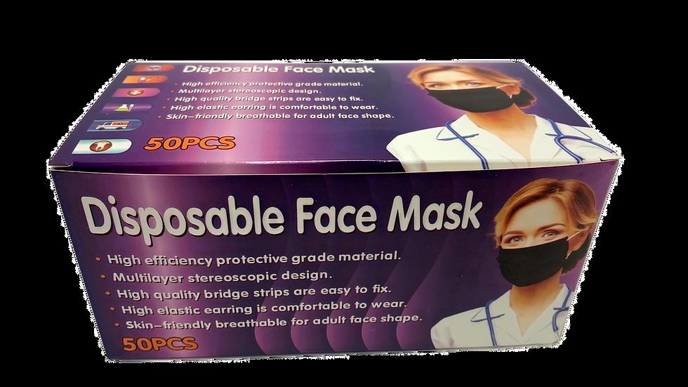 Disposable Black  Face Masks