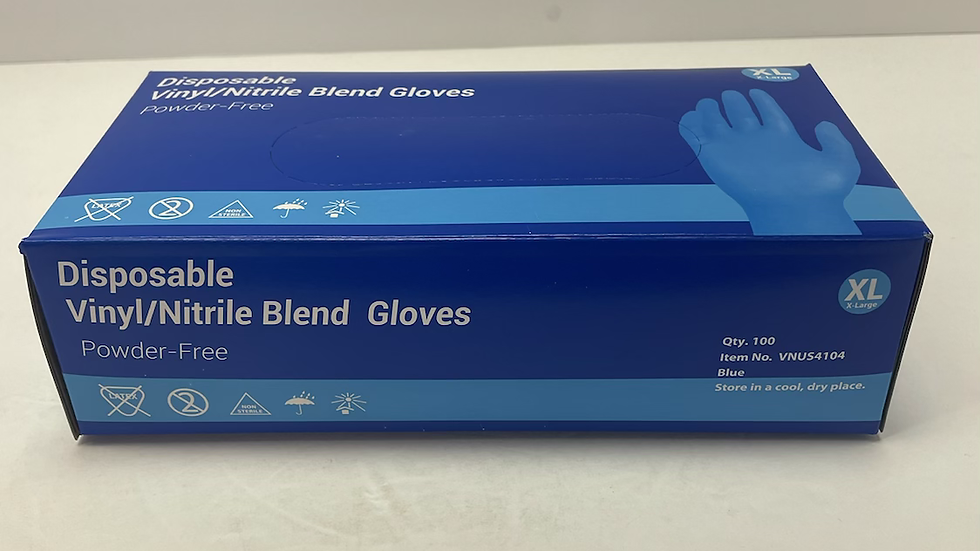 Disposable Medical Vinyl/Nitrile Blend Gloves