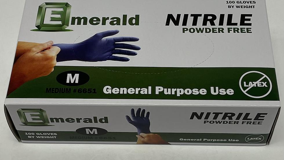Emerald Nitrile Powder Free Gloves