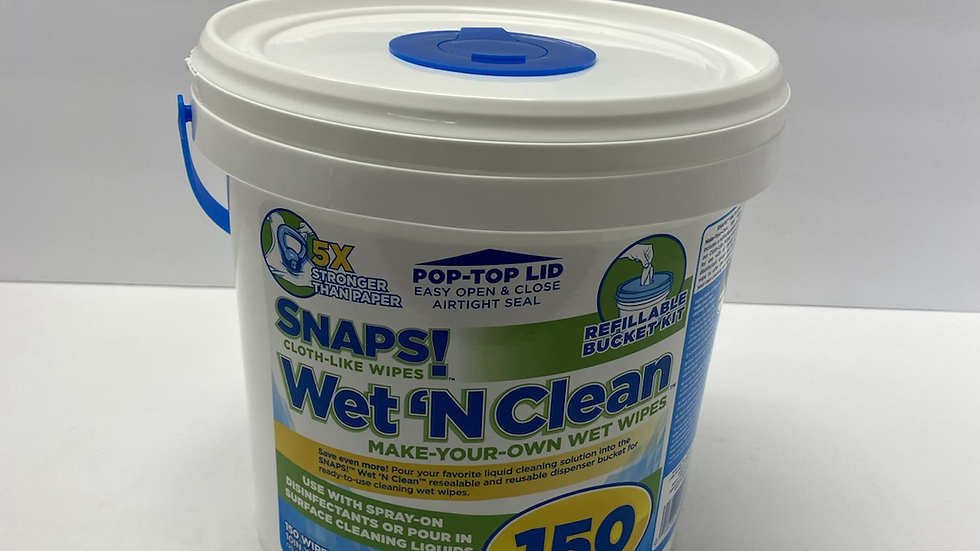 SNAPS  150 Wet 'N Clean Dry Wipes Make Your Own