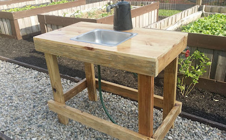 Building A Garden Vegetable Wash Station