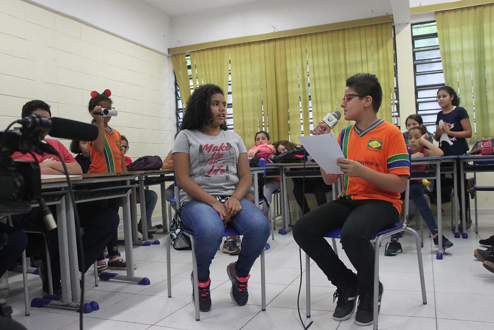 Workshop -web radio - radio cidadão - Escola Faustina Pinheiro da Silva - comunicação - ONG Pequeno Cidadão ABCD