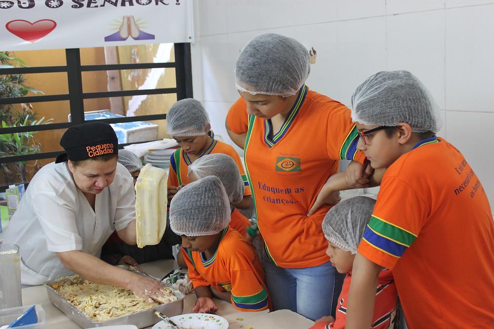 ong pequeno cidadao - culinaria para crianças - ong em sbc - ong abcd - estagio em ong