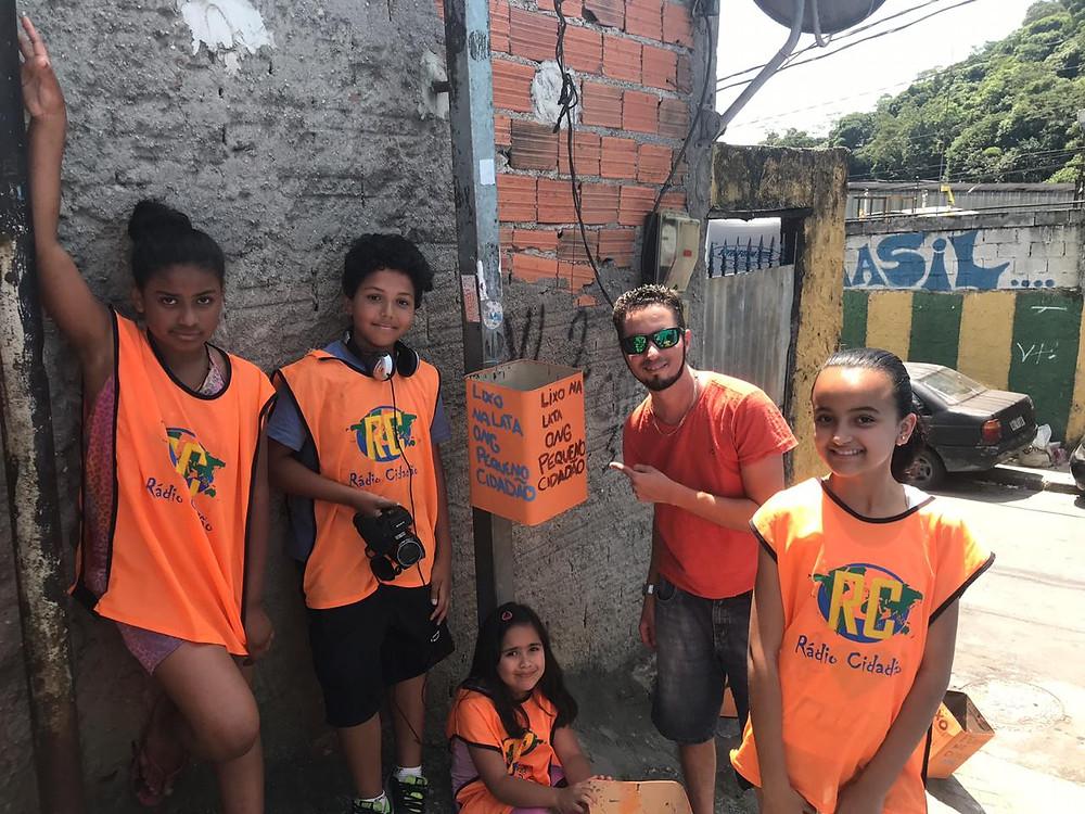 Ong pequeno cidadão - cafezal - montanhão sbc - crianças em ação - lixo na lata - Emeb Edson Danilo Dotto - Parque selecta