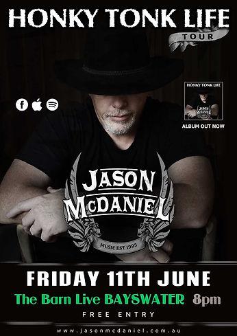Jason McDaniel LIVE performance at The Barn Live BAYSWATER