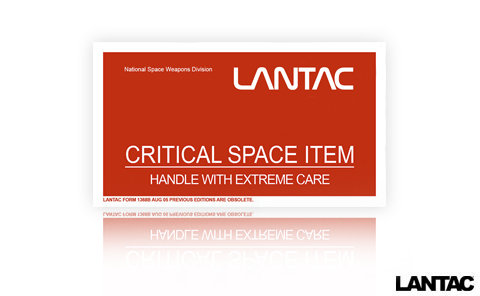 CSI, Critical Space Item Sticker SMALL