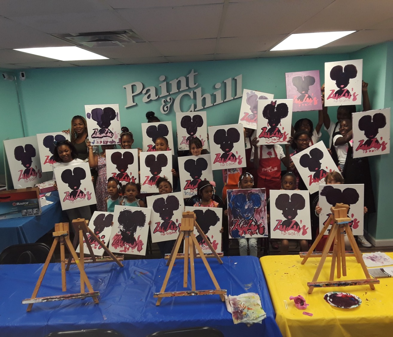 Sip & Paint Event: Group Photo
