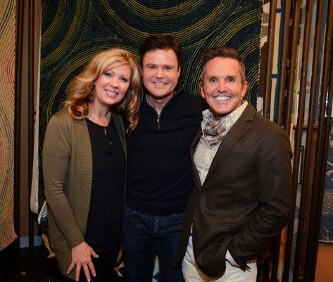 Debbie and Donny Osmond with Dann, Las Vegas Market, Spring 2015