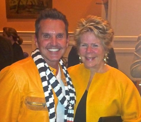 Dann with Bunny Williams Architectural Digest Party, High Point Market