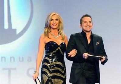 Donna Moss and Dann Foley Presenting at the ARTS Awards, Dallas, Texas