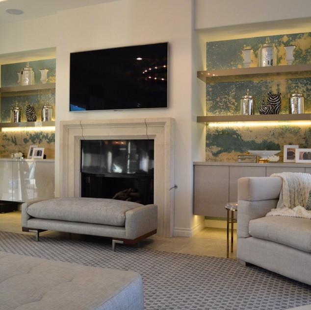 Living Room Fireplace – Palm Springs, CA