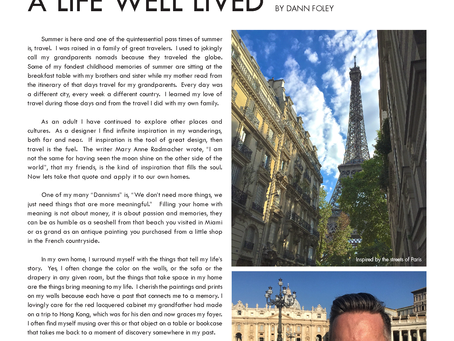 Travel and Design: A Life Well Lived