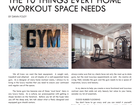 Fitness and Design: The 10 Things Every Home Workout Space Needs