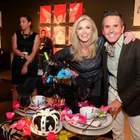 Donna Moss and Dann Foley Mitchell Black showroom, Las Vegas Market, Spring 2015
