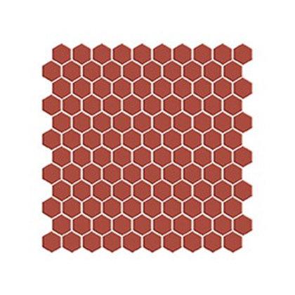 Hexagon Vişne Kırmızı Mozaik
