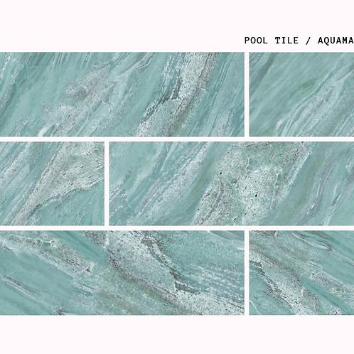 Aquamarine - Natural Porselen Havuz Karosu