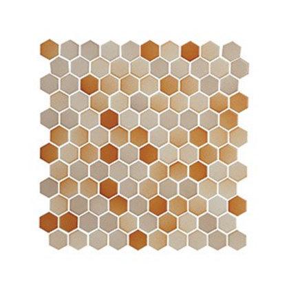 Hexagon Bej+Kahve Mozaik