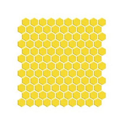Hexagon Sarı Porselen Mozaik