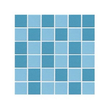 İkili Mavi Mozaik