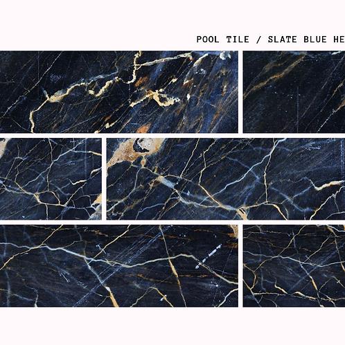 Slate Blue Heaven - Natural Porselen Havuz Karosu