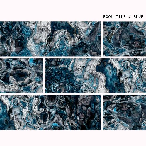 Blue Mist - Natural Porselen Havuz Karosu