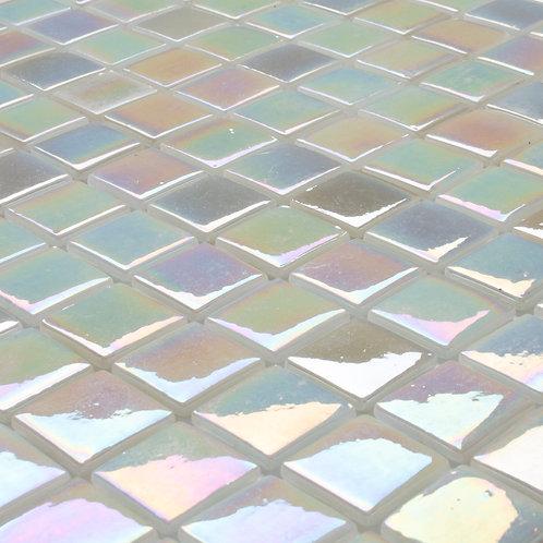 SeraBella Poly Beyaz Lüsterli Cam Mozaik