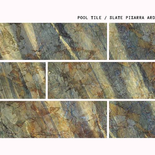 Slate Pizarra Ardoise  - Natural Porselen Havuz Karosu