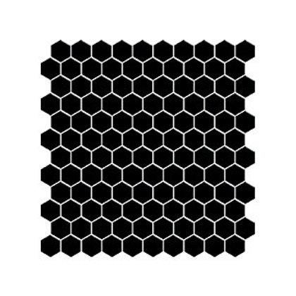 Hexagon Siyah Mozaik