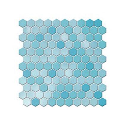 Hexagon Havuz Mavisi Mozaik