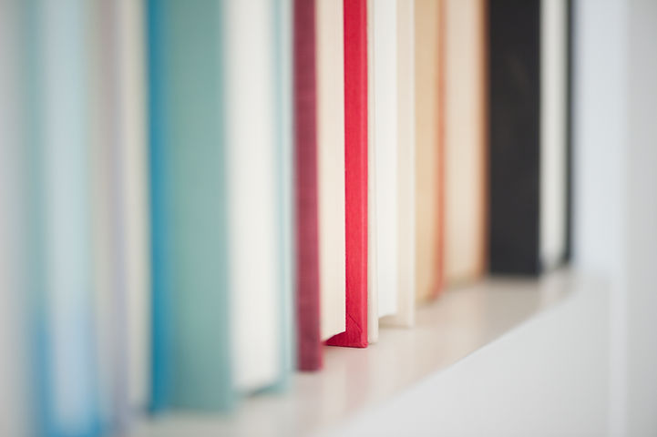 books in a line