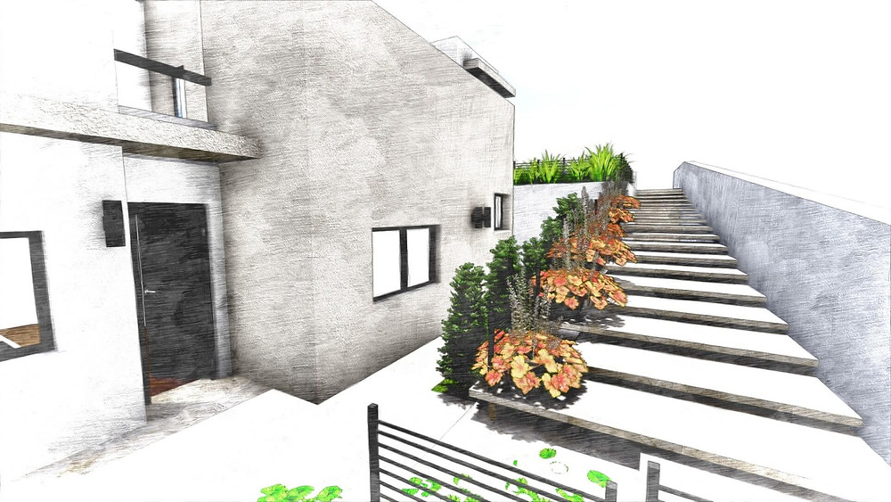תכנון בית פרטי ב 3 מפלסים