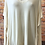 Thumbnail: V neck cream jumper with quirky side detail