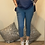 Thumbnail: Petrol blue Magic Plain Super Stretch Crushed Trousers fitting 8-18