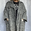 Thumbnail: Black and white oversized coat fitting from a size 12-24