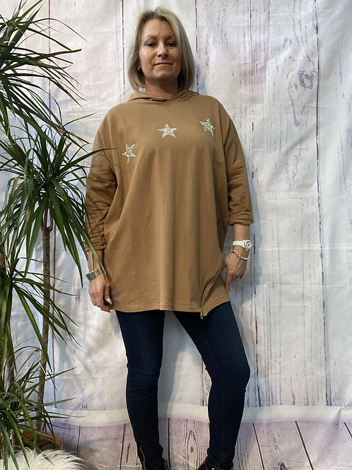 Caramel  triple star and zip top, fitting up to a size 16.    161101