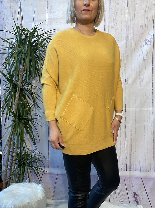 Mustard criss cross detail jumper fitting up to a size 18 6516