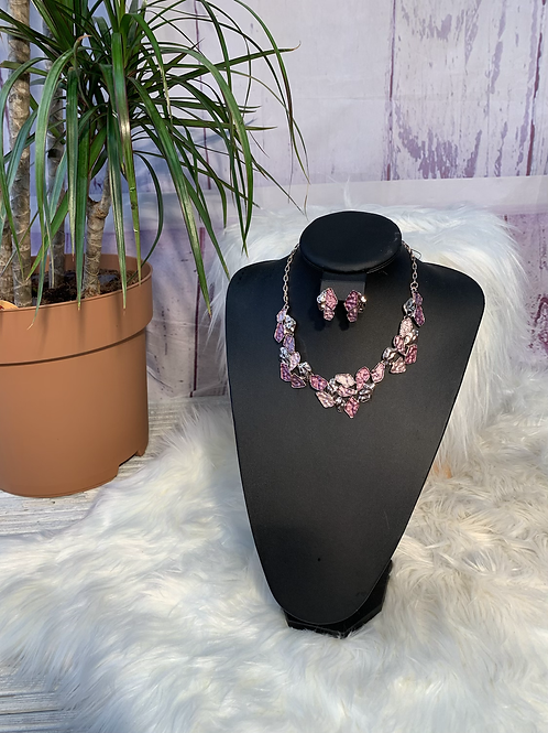 Rosie necklace and earring set