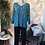 Thumbnail: Turquoise leopard print top, fitting sizes 10-16.      1779