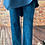Thumbnail: Teal Snake print Magic  Stretch Trousers fitting 16-22