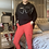 Thumbnail: Red Magic  Stretch Crushed Trousers fitting 8-18