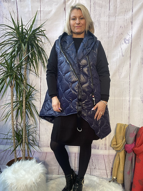 Navy Gucci inspired coat, fitting sizes 10-20.   10117