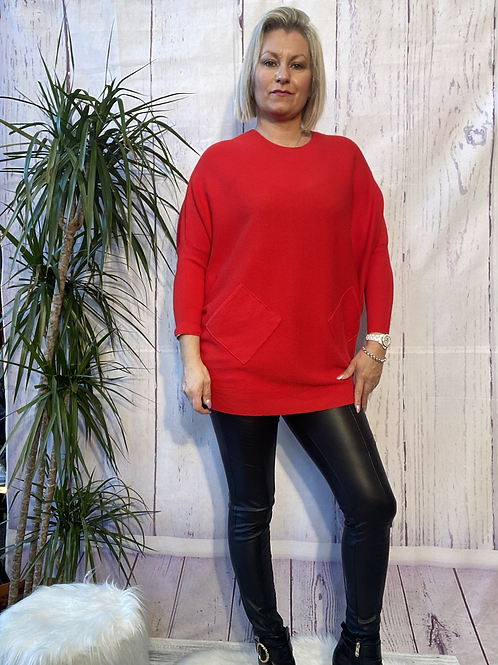 Red criss cross detail jumper fitting up to a size 18 6516